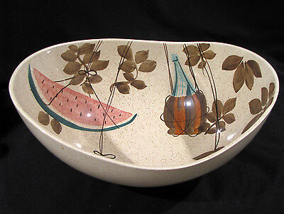 """RED WING TAMPICO WATERMELON 12"""" SERVING or SALAD BOWL - MID CENTURY"""