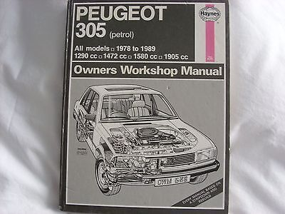 Haynes Manual For Peugeot 305 (Petrol)