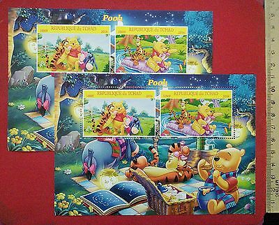 NEW Walt Disney classic Winnie the Pooh 2016 CHAD stamps for children Sheetlets