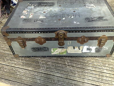 Vintage/Chest/Steamer Trunk/Coffee Table by Mossman London L90 x H34 x D52 cm