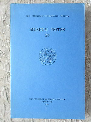 Old 1979 Museum Notes Book American Numismatic Society Coins