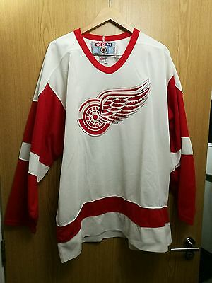 ccm nhl detroit red wings ice hockey jersey size XL