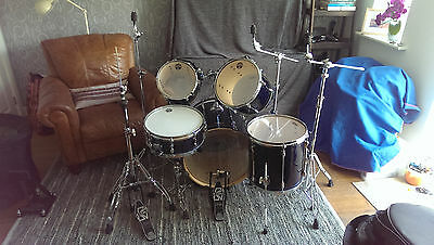 Tama SuperStar 5-pc drum kit - Midnight Blue - Hardware, Cases, Cymbals