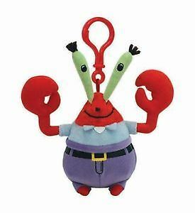 "TY Beanie Key Clip 3"" Mr Krabs Spongebob Squarepants - 3"" Key Chain"