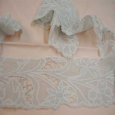 Antique (19th Century) Italian Milanese Handmade Lace; 2.75 Yds x 3.5""
