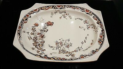 """17.5"""" Large Very Old George Jones Meat Serving Plate Platter Chatsworth"""