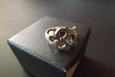 Boxed Ladies Sterling Silver 925 Design Ring (Size Q 1/2)