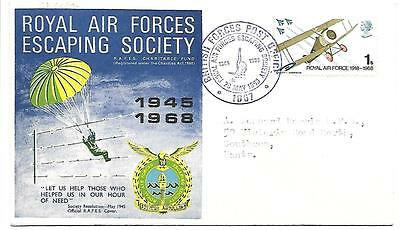 Anniversaries 1968 Royal Air Forces Escaping Society RAF Official FDC.