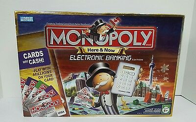 Monopoly Here & Now Canadian Edition Electronic Banking Credit Cards Canada