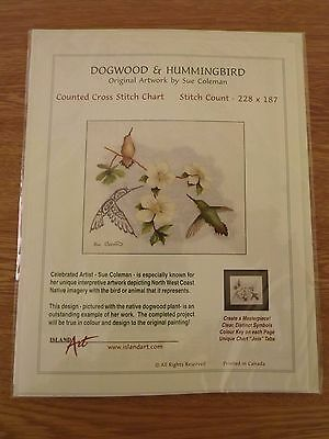 Bn Counted Cross Stitch Chart 'dogwood And Hummingbird'