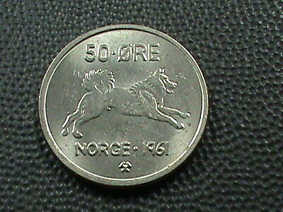 NORWAY    50  ore    1961    UNCIRCULATED