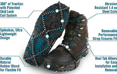 Yaktrax PRO safety anti-slip ice grips for regular footwear