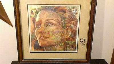 """Bev Doolittle Print """"The Earth is My Mother"""" Framed Matted Signed"""