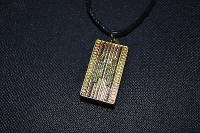 The Hunger Games Catching fire Peeta's 18K gold plated Shine gold box Necklace