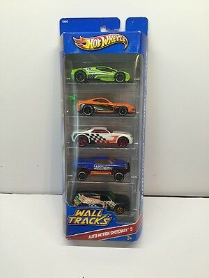 Hot Wheels Auto Motion Speedway 5-pack. 2010 Mattel. New Sealed