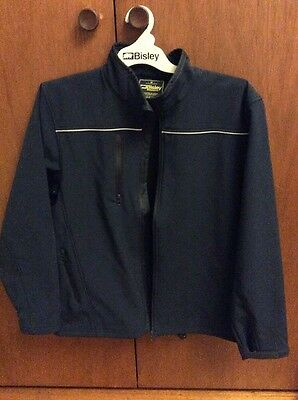 Bisley Workwear Soft Shell Jacket Mens M Navy Blue