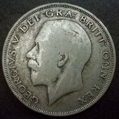 King George V Half-Crown Coin 1925 50% Pure Silver Key Date