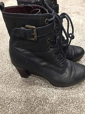 Ladies Dark Blue Ankle Boots Size 38 (5) from M&S