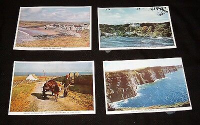 4 Vintage Postcards Lahinch, Ennistymon, Ballyvaughan, Cliffs Moher County Clare