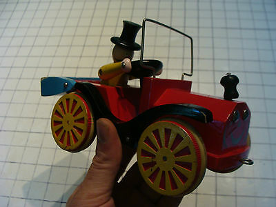vintage Early BRIO pull toy JALOPY w early CAT LOGO, Scarce
