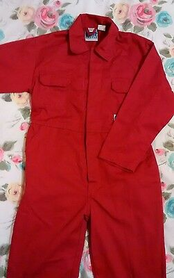 """Children's Boilersuit Size 28"""" Red"""