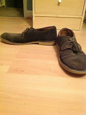 Men's Basic Grey Size 10 Suede Shoes