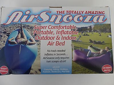 Green AirSnooza Portable Inflatable Outdoor & Indoor Air Bed NEW
