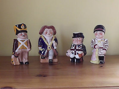 Rare Shorter & Sons Limited Edition Toby Jug Set ~ All The Queen's Men 1993