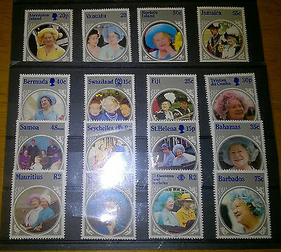 Queen Mother's 85th Birthday (1985) - 16 x Un-Used Commemorative Stamps