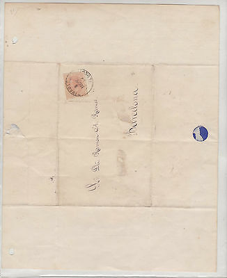 Letter Brief from Barcelona Spain 1882 mint condition