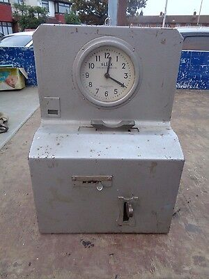 London Transport Underground Bus Vintage attendance clock Blick Time Recorders
