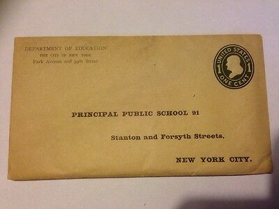 USA - Department Of Education Cover 1c Embossed Postage (lot766)