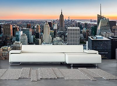 New York at Sunset Wall Mural Photo Wallpaper GIANT WALL DECOR Paper Poster