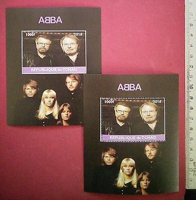 NEW ABBA Swedish Pop Star 2016 CHAD Stamps 2 BOYs Perf+Imperf Souvenir Sheet