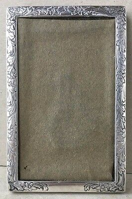 Antique Sterling Silver Picture Frame 2 3/4 X 4 1/4 NO RESERVE