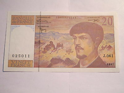 1 billet 20 francs DEBUSSY-1997--J.061---NEUF---TYPE-1980 MODIFIE