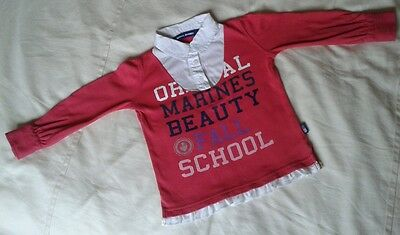 Girls Blouse Top Age 4 Years Red Original Marines Layered Style Immaculate