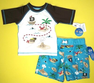 Wave Zone Infant Boys 2 Pc Swimsuit With Rash Guard Shirt NWT  12M  18M or  2T