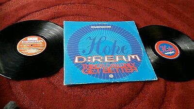 D:Ream - THINGS CAN ONLY GET BETTER - DOUBLE 12 inch vinyl