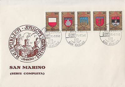 Coat of Arms San Marino set on cover