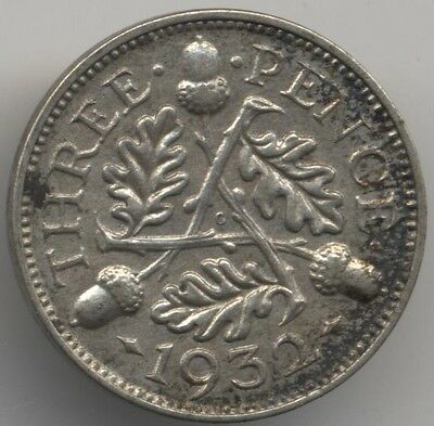 1932 George V Silver Threepence***Collectors***(T1)