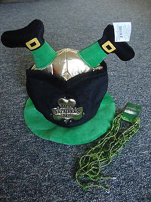 New St. Patrick's Day Party Hat And Beads