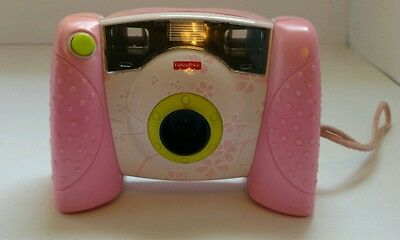 Pink Fisher Price Kid Tough Digital Camera Pink Blossoms Print WORKS