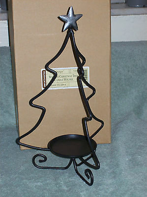 Longaberger Wrought Iron Christmas Tree Candle Holder Item No. 71562