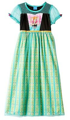 NWT Disney Frozen Fever Anna Dress-Up Nightgown Girls Sizes 4, 6, 8, 10