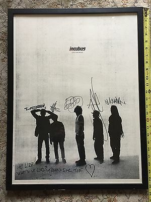 Signed Autographed Incubus If Not Now, When? Cool Rare Collectible Poster