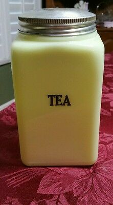 McKee Seville Yellow 48 oz. Tea Canister
