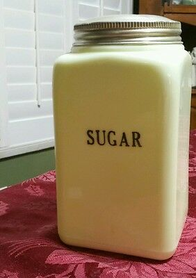 McKee Seville Yellow 48 oz. Sugar Canister