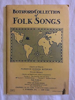 Botsford Collection of Folk Songs Vol 2 Northern Europe Voice and Piano 1931?