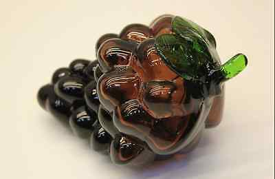 Decorative Glass Paperweight / Ornament Bunch Red Grapes (multiples available)